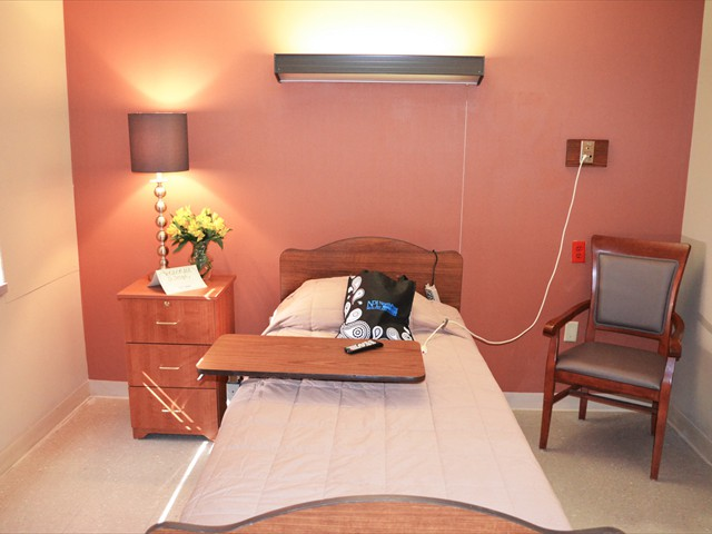 Private patient room interior